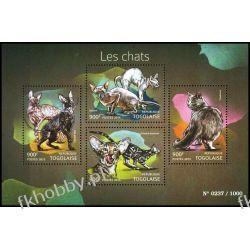 Togo 2015 Mi ark 6887-90 ** Zwierzęta Koty Sport
