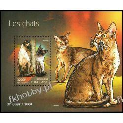 Togo 2015 Mi BL 1194 ** Zwierzęta Koty Kolekcje