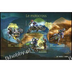 Togo 2015 Mi ark 6907-10 ** Motocros Motocykl Sport Kolekcje