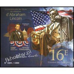 Togo 2015 Mi BL 1201 ** Prezydent USA Abraham Lincoln Pozostałe