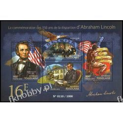 Togo 2015 Mi ark 6922-25 ** Prezydent USA Abraham Lincoln Pozostałe
