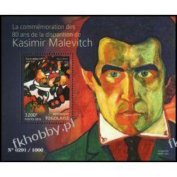 Togo 2015 Mi BL 1202 ** Kasimir Malevich Malarstwo Kolekcje
