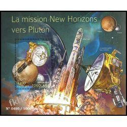 Togo 2015 Mi BL 1210 ** Pluton Kosmos Satelita Rakieta Kosmos