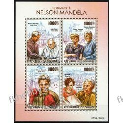 Gwinea 2015 ark 11358-61 ** Jan Paweł II Mandela Nobel Religia i Papież