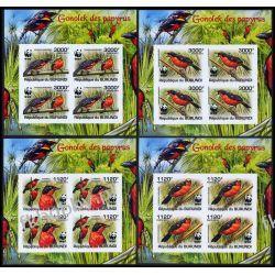 Burundi 2011 Mi ark 2126-29 B ** WWF Ptaki Ptak Kolekcje
