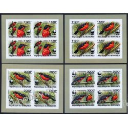 Burundi 2011 Mi ark 2126-29 B ** WWF Ptaki Ptak (4) Kolekcje