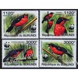 Burundi 2011 Mi 2126-29 ** WWF Ptaki Ptak Pozostałe