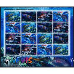 Nevis 2009 Mi ark 2380-83 ** WWF Kałamarnica Kolekcje