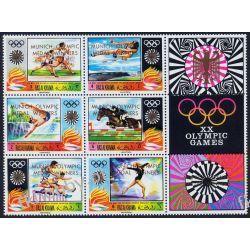 Ras Al Chajma 1971 Mi 540-45 Zf ** Olimpiada Monachium Sport