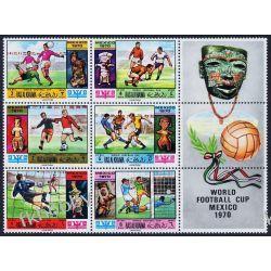 Ras Al Chajma 1970 Mi 354-59 Zf ** Piłka Nożna Sport Kolekcje