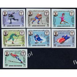Aden Kathiri 1967 Mi 134-40 ** Olimpiada Grenoble Filatelistyka