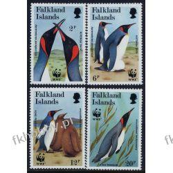 Falklandy 1991 Mi 538-41 ** WWF Ptaki Pingwiny Filatelistyka
