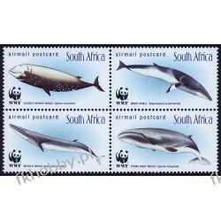 RPA 1998 Mi 1177-80 ** WWF Walenie Wieloryb Filatelistyka