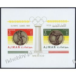 Ajman 1968 BL 75 * Olimpiada Meksyk Szermierka Filatelistyka