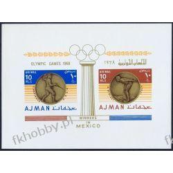 Ajman 1968 BL 76 * Olimpiada Meksyk Szermierka Filatelistyka