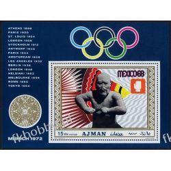 Ajman 1969 BL 98 * Olimpiada Meksyk Sport Filatelistyka