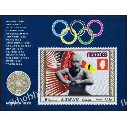 Ajman 1969 BL 98 B * Olimpiada Meksyk Sport Filatelistyka