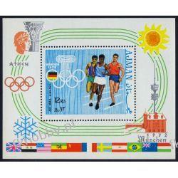 Ajman 1970 BL 195 * Olimpiada Monachium Sport Filatelistyka