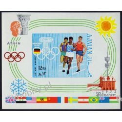 Ajman 1970 BL 195 B * Olimpiada Monachium Sport Filatelistyka