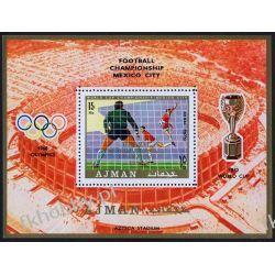 Ajman 1970 BL 189 * Olimpiada Piłka Nożna Sport Filatelistyka