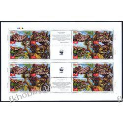 Ukraina 2002 Mi ark 502-05 ** WWF Węże Zwierzęta Kolekcje