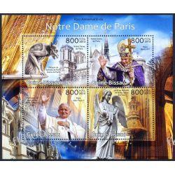 Gwinea Bissau 2013 Mi ark 6437-40 ** Jan Paweł II Notre Dame Religia i Papież