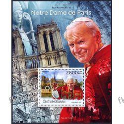 Gwinea Bissau 2013 Mi BL 1129 ** Jan Paweł II Notre Dame Religia i Papież