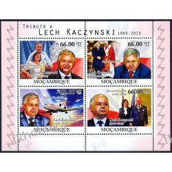 Mozambik 2010 ark 4245-48 ** Lech Kaczyński Benedykt Kolekcje
