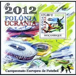 Mozambik 2011 BL 574 ** Piłka Nożna Polonik Ukraina Kolekcje