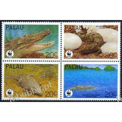 Palau 1994 Mi 690-93 ** WWF Zwierzęta Krokodyl Kolekcje