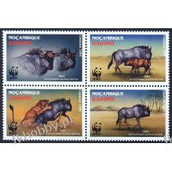 Mozambik 2000 Mi 1757-60 ** WWF Zwierzęta Kolekcje