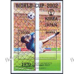 Ghana 2002 Mi BL 431 ** Piłka Nożna Japonia Korea Kolekcje