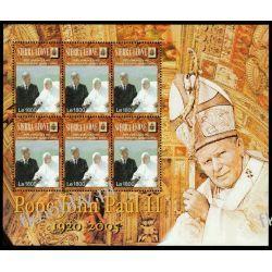 Sierra Leone 2005 Mi ark 4814 ** Jan Paweł II Papież Religia i Papież