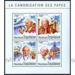 Togo 2014 Mi ark 6359-62 ** Jan Paweł II Papież Religia i Papież