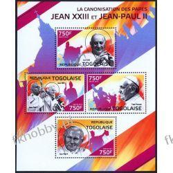 Togo 2014 Mi ark 6096-99 ** Jan Paweł II Papież Religia i Papież