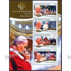 Togo 2014 Mi ark 6471-74 ** Jan Paweł II Papież Religia i Papież
