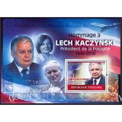 Togo 2010 Mi BL 520 ** Jan Paweł II Lech Kaczyński Religia i Papież
