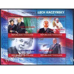 Togo 2010 Mi ark 3544-47 ** Jan Paweł II Lech Kaczyński Religia i Papież