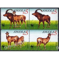 Angola 1990 Mi 799-02 ** WWF Zwierzęta Ssaki