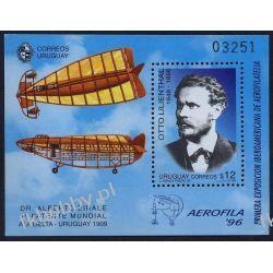 Urugwaj 1996 Mi BL 74 ** Otto Lilienthal Samolot Lotnictwo Kolekcje