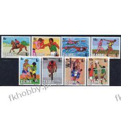Zair 1985 Mi 889-96 ** Olimpiada Koń Boks Rower Kolekcje