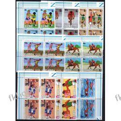 Zair 1985 Mi 889-96 x4 ** Olimpiada Koń Boks Rower Kolekcje