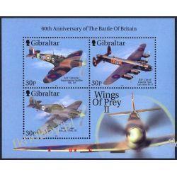 Gibraltar 2000 Mi BL 43 ** Samolot Lotnictwo Kolekcje