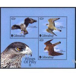 Gibraltar 2000 Mi BL 44 ** Ptaki Drapieżne Ptaki