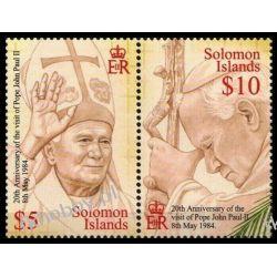 Wyspy Salomona 2004 Mi 1133-34 ** Jan Paweł II Papież Kolekcje