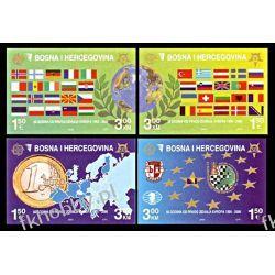 Bośnia i Hercegowina 2005 Mi 419-20B ** Europa Cept Monety Flagi Kolekcje