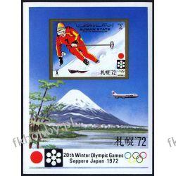 Ajman 1971 BL 335 ** Olimpiada Sapporo Narciarstwo Kolekcje