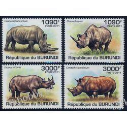 Burundi 2011 Mi 2110-13 ** Nosorożec Zwierzęta Ssaki