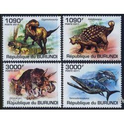 Burundi 2011 Mi 2102-05 ** Dinozaury Zwierzęta Zwierzęta wymarłe