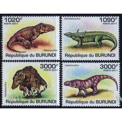 Burundi 2011 Mi 2070-73 ** Dinozaury Zwierzęta Zwierzęta wymarłe